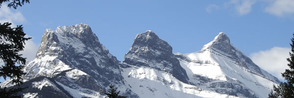 view of the three sisters canmore